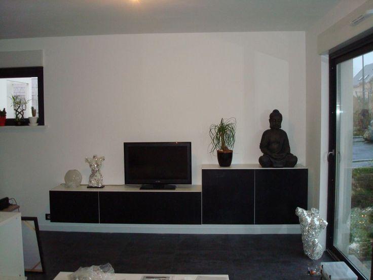 beautiful photo meuble tv en cours de montage ikea besta with ikea besta salon