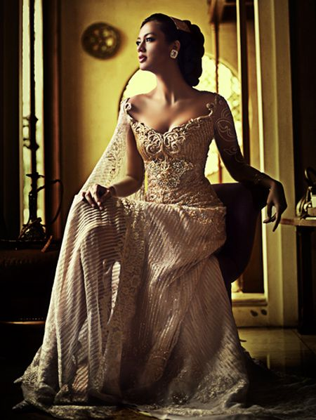 our traditional wedding gown, kebaya by Anne Avantie
