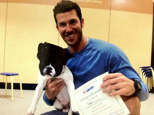 JP Arencibia and his little dude, Yogi.   Too cute for words!