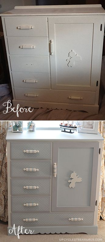 Check out this kids dresser transformation that includes a hidden chalkboard! http://upcycledtreasures.com/2013/07/kids-dresser-makeover-with-a-hidden-chalkboard/ #kidsfurniture #chalkboardpaint #furniturerevival