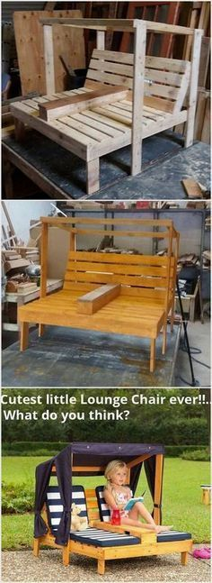 Pallet Lounge Chair #outdoorloungechairs