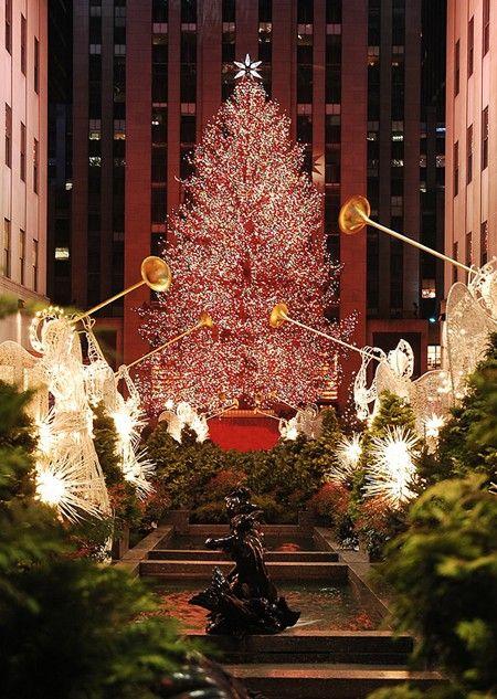 Nothing like the Rockefellar Ctr Christmas Tree in NYC . I SOOOO MISS THIS!