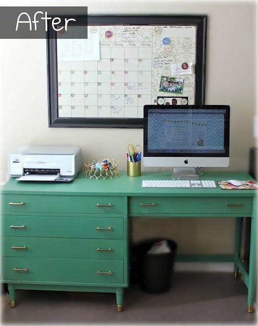 mint green work desk office corner bureau workspace pinterest mint green nice and work desk. Black Bedroom Furniture Sets. Home Design Ideas
