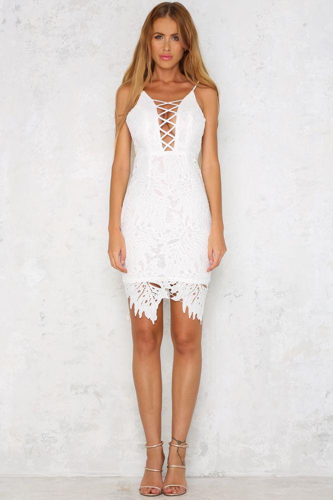 False Alarm Midi Dress White