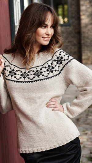 Strik smuk og enkel sweater | Familie Journal