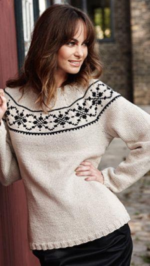 Strik smuk og enkel sweater | Familie Journal