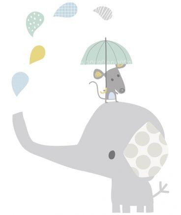 vinilo bebe elefante