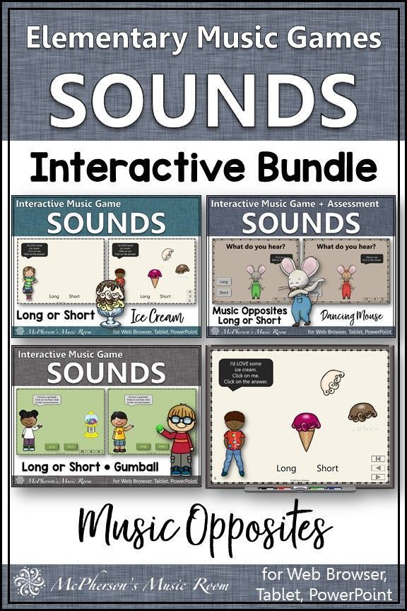 Long and Short Sounds Interactive Music Opposite Games