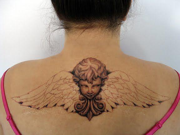 cherubs tattoo designs | Cherub tattoo design