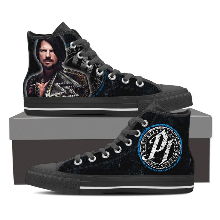WWE - AJ Style Custom Shoes