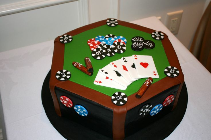 Andrew's Poker Cake - All decorations are MMF/gumpaste.  Many ideas foind here on CC :) TFL