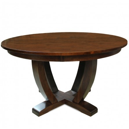 Gallery furniture exclusive design 54 texas rustic cherry for Exclusive dining table designs