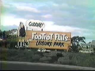 Footrot Flats Leisure Park, Te Atatu Road, 1986. Read more at https://visualhumor.wordpress.com/2012/10/10/footrot-flats-revisited/