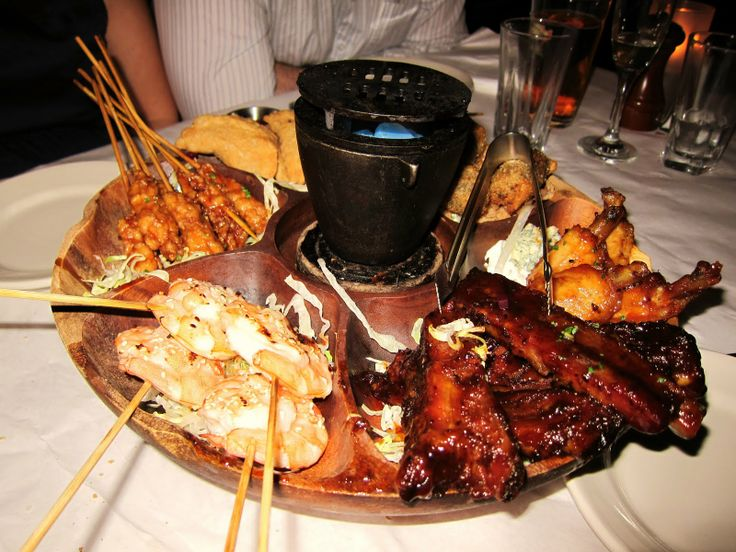 Blue Ribbon's pu pu platter, the most succulent foodstuffs available in NYC after  2am