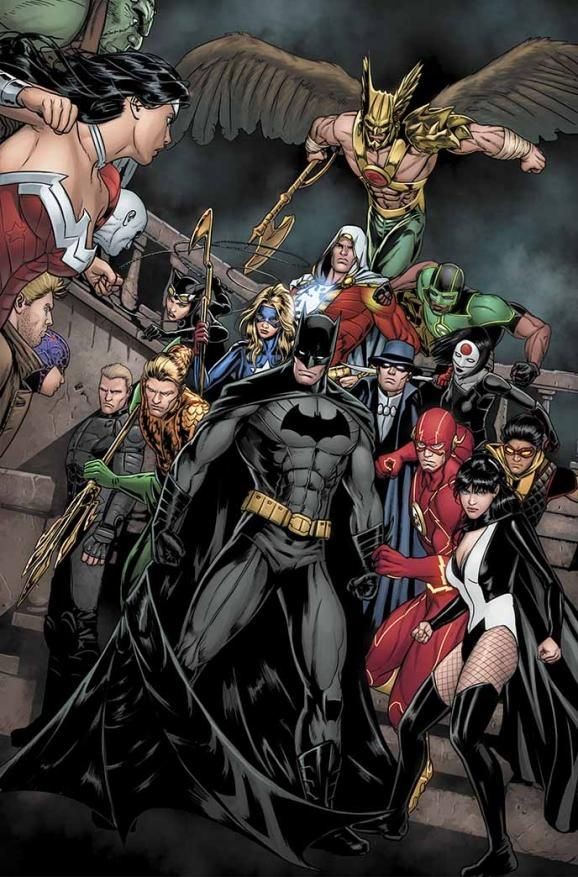DC's New 52 and Trinity War - Don't like the New 52 & Geoff John's vision but this art is nice.