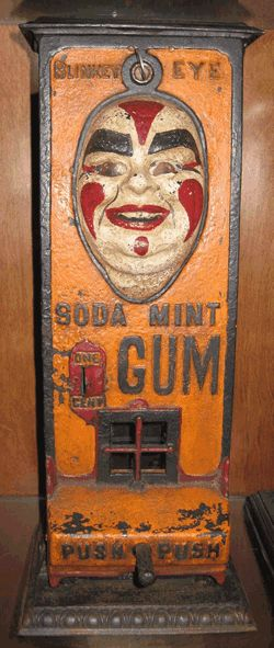 Blinkey Eye Soda Mint Gum Machine Standard Gum Machine Works
