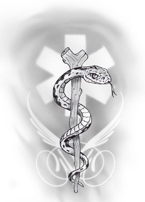 snake tattoo by primitive-art