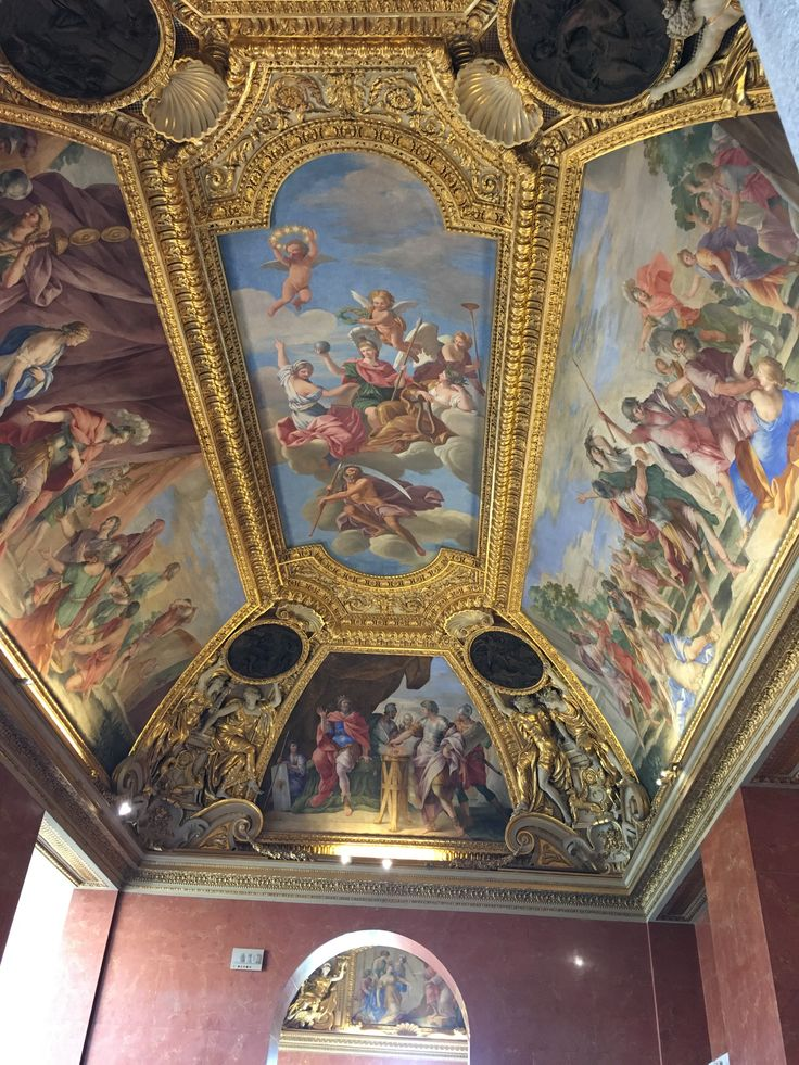 Fab. ceiling in the Louvre.