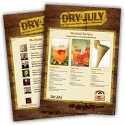 Mocktail Recipes to download from Dry July