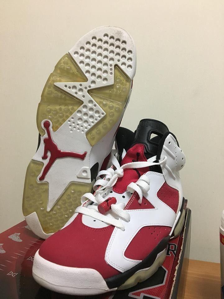6b6dc40cd81082 2008 Air Jordan 6 Retro Carmine CDP White Black Red VI Size 11 322719 161