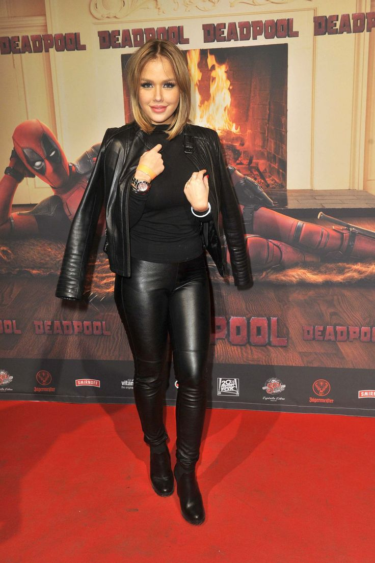 Letters In Latex%0A Kim Gloss attends the premiere of Deadpool