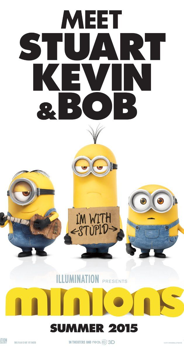 Directed by Kyle Balda, Pierre Coffin.  With Chris Renaud, Pierre Coffin, Sandra Bullock, Michael Keaton. Minions Stuart, Kevin and Bob are recruited by Scarlet Overkill, a super-villain who, alongside her inventor husband Herb, hatches a plot to take over the world.
