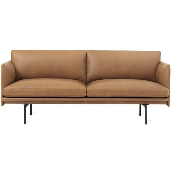 Muuto Outline 3-seater sofa –Cognac ($9,160) ❤ liked on Polyvore featuring home, furniture, sofas, 3 seater couch, three seater sofa, 3 seater sofa, muuto furniture and muuto sofa