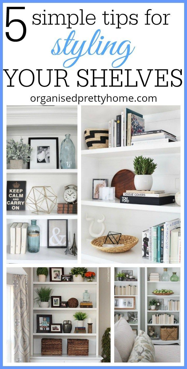 5 simple tips for decorating shelves bookcase bookshelf ideas rh pinterest com