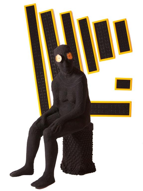 """Saatchi Online Artist: Alejandra Zermeño; Mixed Media, 2012, Sculpture """"Biología interna de un Jaguar Negro"""""""