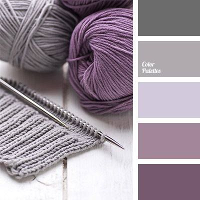 Muted purples and gray color palette