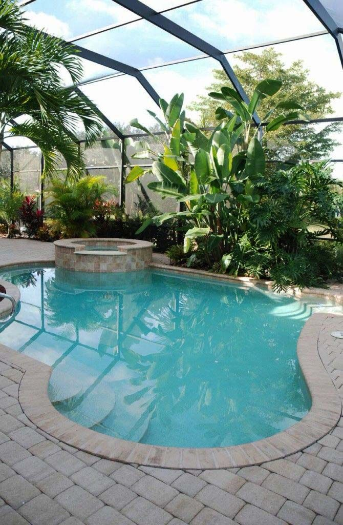 10 Wonderful Outdoor Pool Decorations Ideas Indoor Swimming Pool Design Tropical Pool Landscaping Small Indoor Pool