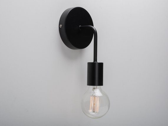 Loui Wall Sconce Black On Off Switch Plug In Sconces Retro