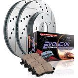 Cheap Power Stop K1684 Front Ceramic Brake Pad and Cross Drilled/Slotted Combo…