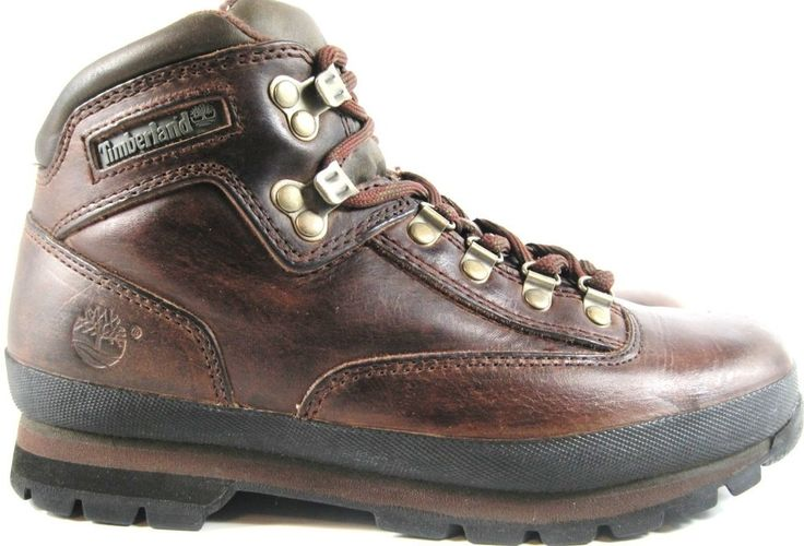 Timberland Men Hiking Boots Size 8.5 M Brown Leather Style 95310.  YYY 10 #Timberland #HikingTrail