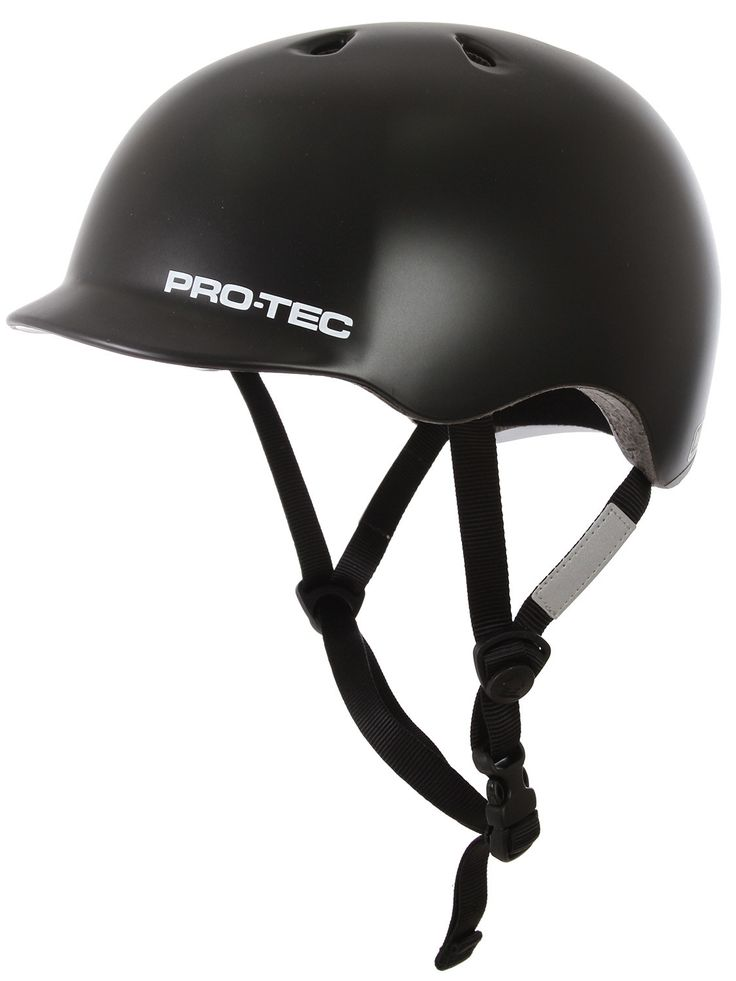 Protec Riot Street Bike Helmet Satin Black Mens