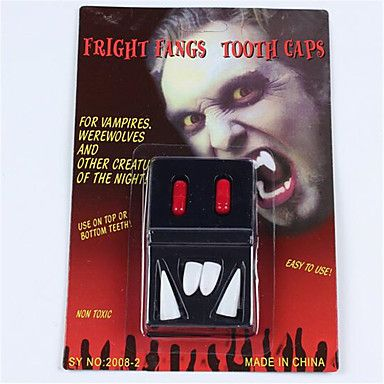 Add the final touch to your Vampire costume this Hallowen with some fake vampire tooth caps! Repin if you like this idea!