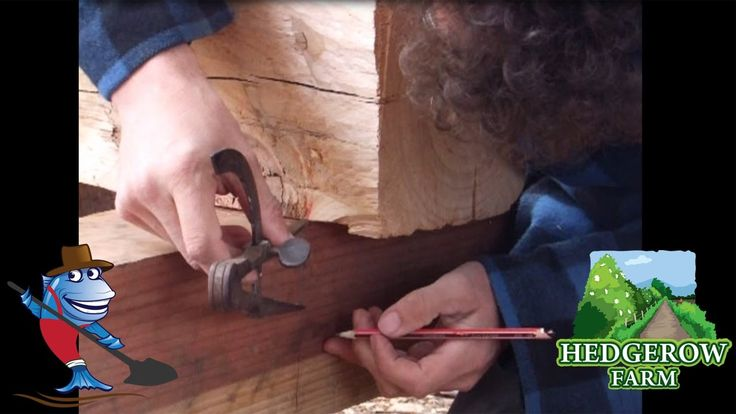 How to make Cider with an Axe! Making a timber Framed Press Part 09 scri...