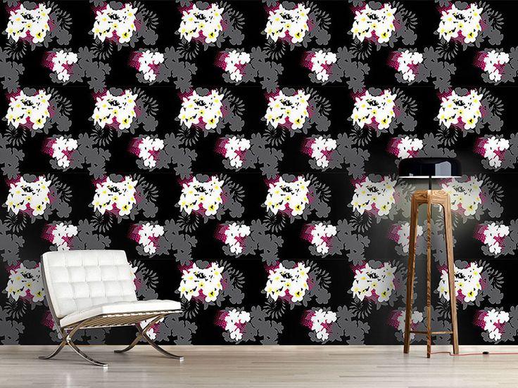 Design #Tapete Strandblumen