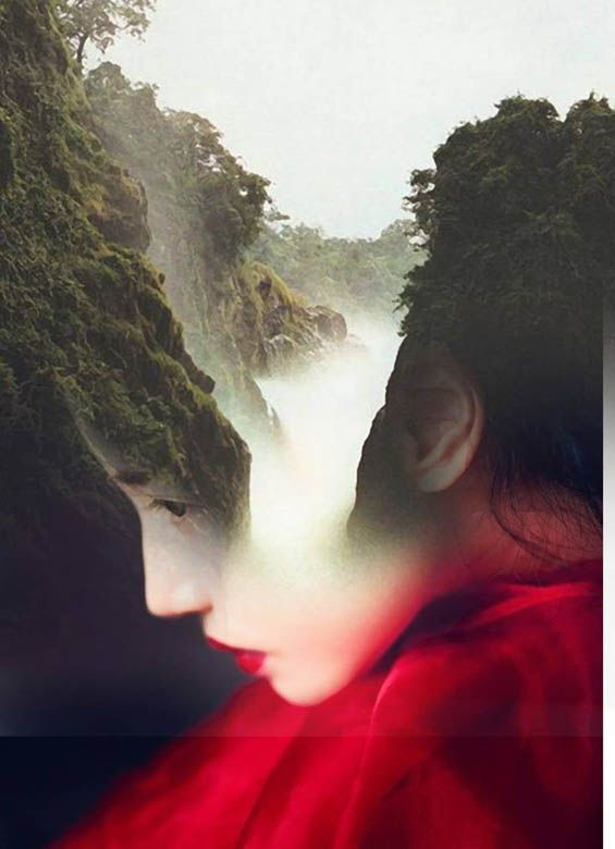 """""""Double exposure portraits by Spanish-based artist Antonio Mora (a.k.a. Mylovt) blend human and nature worlds into surreal hybrid artworks."""""""