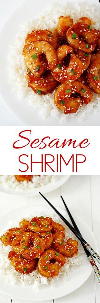 Sesame Shrimp #shrimp #chinesefood #chinesetakeoutathome #comfortfood