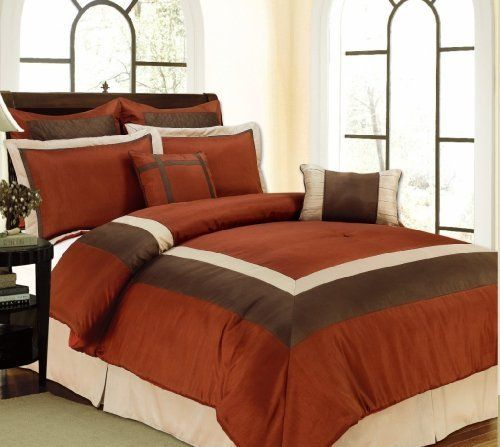 8 Pc High Quality Classic Comforter Set Matching Pillows Choice Of