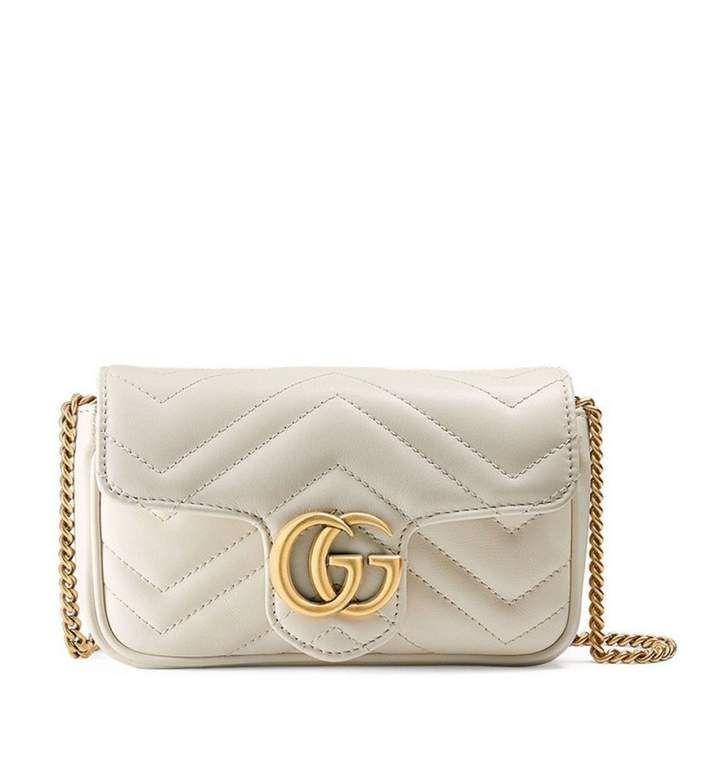 8d302d63 Gucci Marmont White Leather Handbag in 2019 | Gucci | Gucci marmont ...