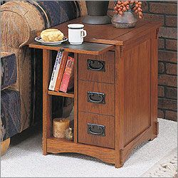 End Table- this would make a great bedside table.  I love the mission styling