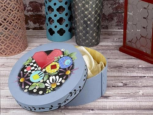 Round Flower Keepsake Box -- Paint this whimsical keepsake box. #decoartprojects