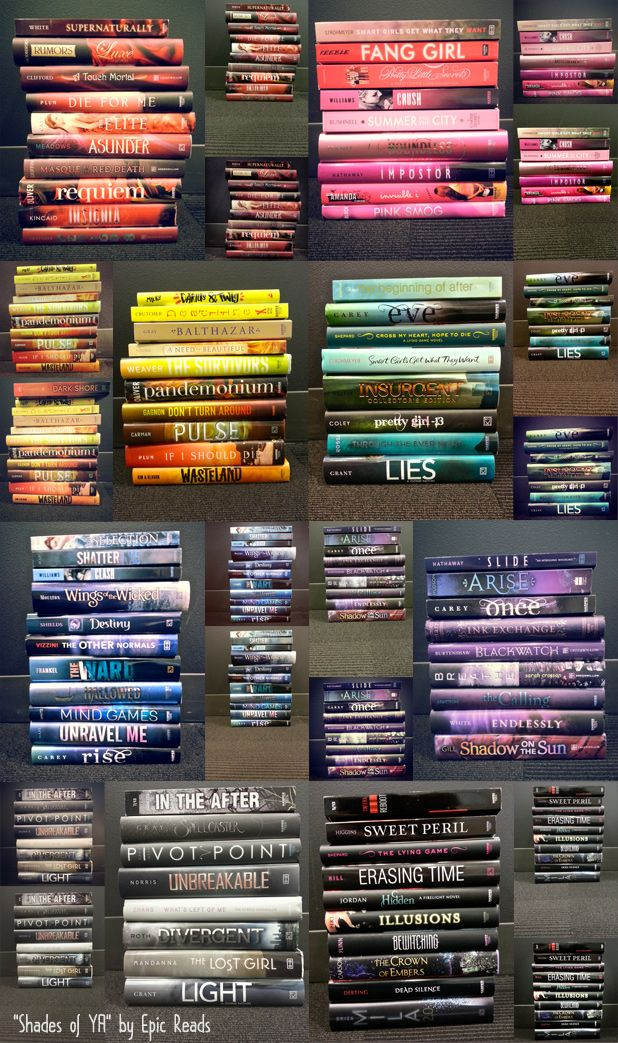 """""""Shades of YA"""" by Epic Reads! View the larger image on our blog! (Source: epicreads.com)"""