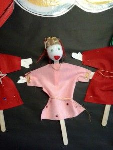 Esther! Puppet. See Vashti and the rest at annkoffsky.com/blog.