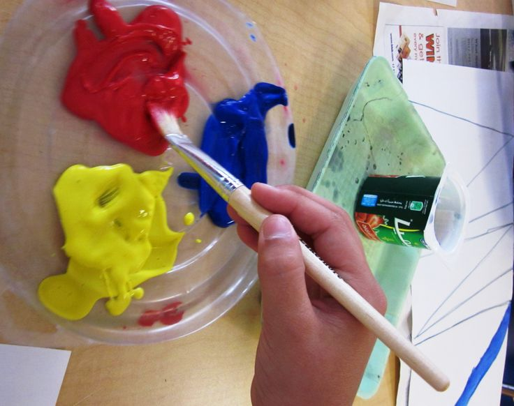 Mixing Colors:  Art Lessons For Kids