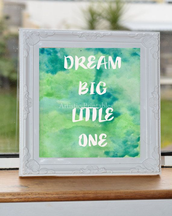 Printable watercolour nursery wall art by ArtisticPrintables