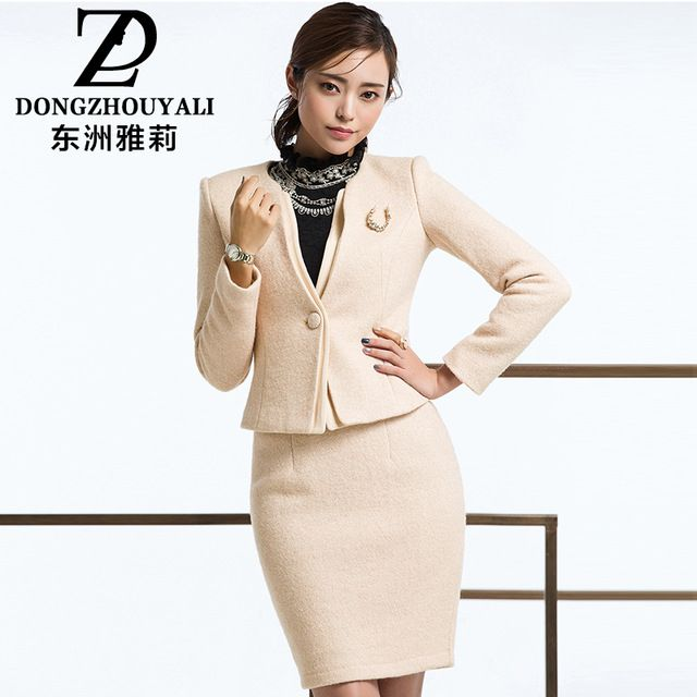 2015 Winter Plus Size Womens Elegant Wool Skirt Suits Ladies Office Wear Suit Uniform Style Short Wool Coats Skirts Knee-Length US $80.00 /piece  Specifics Item Type	Skirt Suits Gender	Women Decoration	Button is_customized	Yes Clothing Length	Short Closure Type	Single Breasted Material	Polyester,Wool  Click link to buy other product http://goo.gl/p8JMyk
