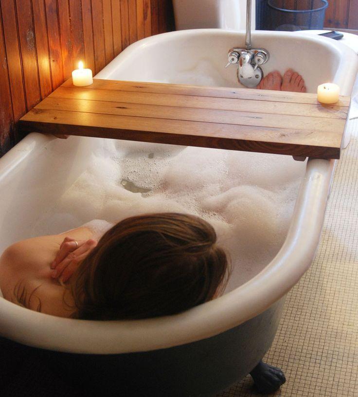 """Make my own Reclaimed Wood Bathtub Caddy!"" Bambeco | Scoutmob Shoppe"